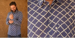 रंगरेज / Rangrez ❂ Block Printed . Fine Cotton Shirt ❂ 11