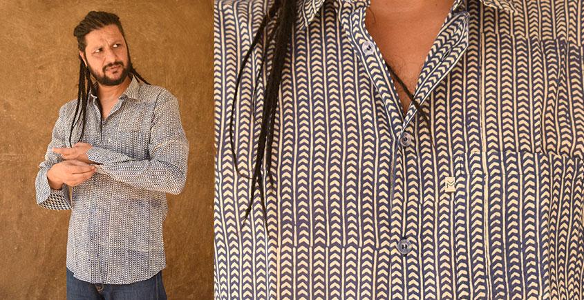 रंगरेज / Rangrez ❂ Block Printed . Fine Cotton Shirt ❂ 12