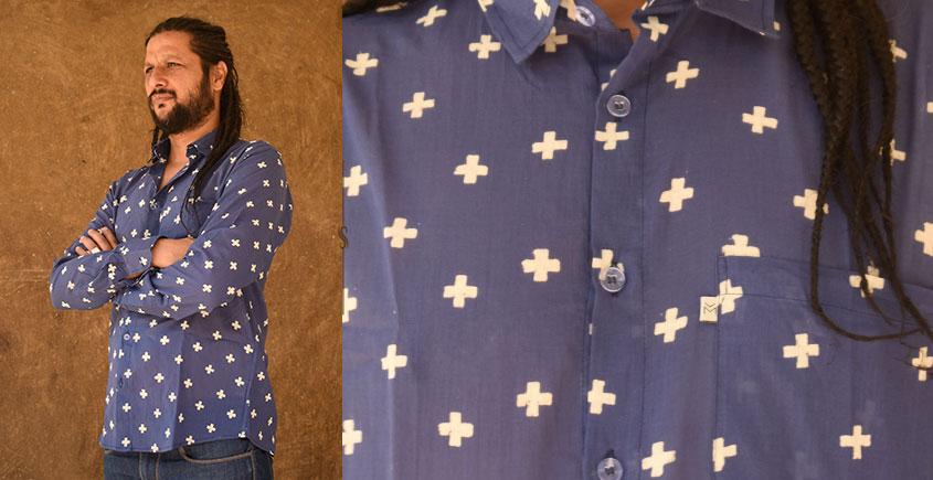 रंगरेज / Rangrez ❂ Block Printed . Fine Cotton Shirt ❂ 13