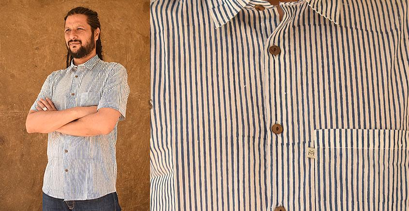रंगरेज / Rangrez ❂ Block Printed . Fine Cotton Shirt ❂ 14