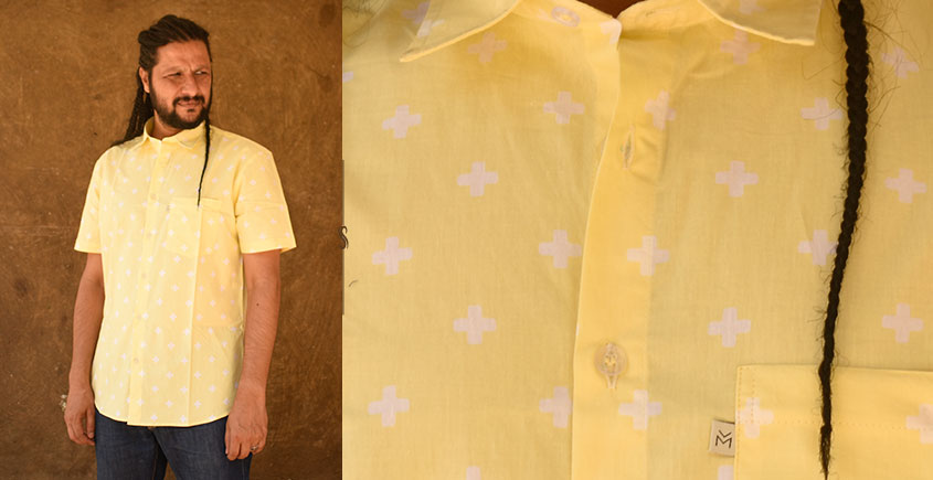 रंगरेज / Rangrez ❂ Block Printed . Fine Cotton Shirt ❂ 16