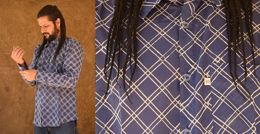रंगरेज / Rangrez ❂ Block Printed . Fine Cotton Shirt ❂ 25
