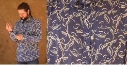 रंगरेज / Rangrez ❂ Block Printed . Fine Cotton Shirt ❂ 27