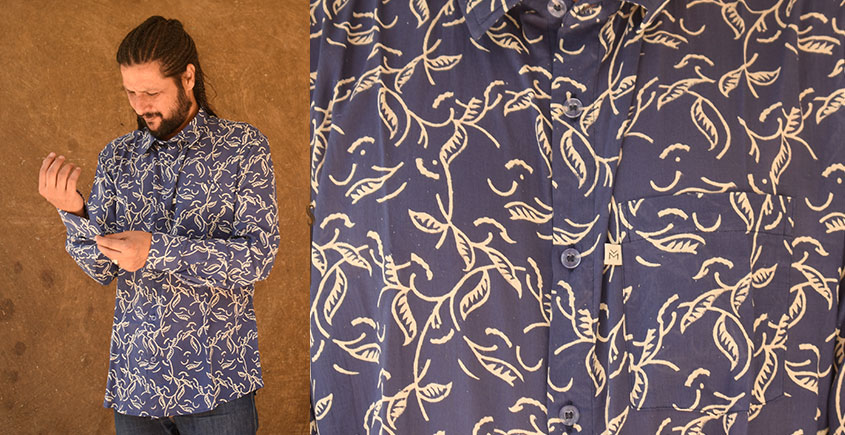 रंगरेज / Rangrez ❂ Block Printed . Fine Cotton Shirt ❂ 27