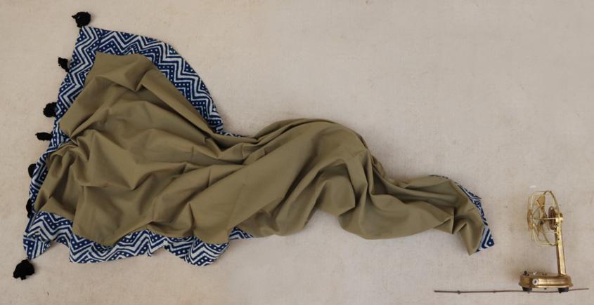 सैर ~ Dabu Printed Cotton Stole ☙ 15