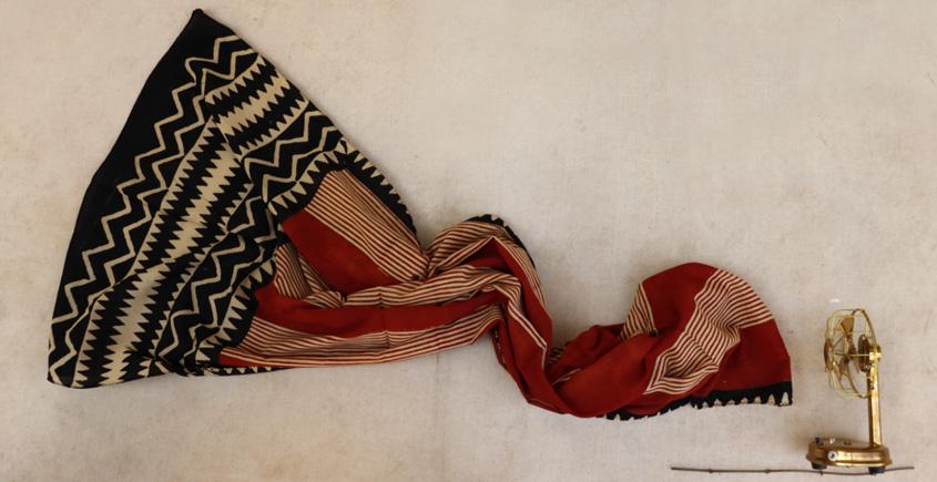 सैर ~ Bagru Printed Cotton Stole ☙ 19