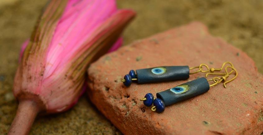 Ochre ~ Ceramic Jewellery Earing {4}