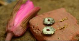 Ochre ~ Ceramic Jewellery Earing {8}