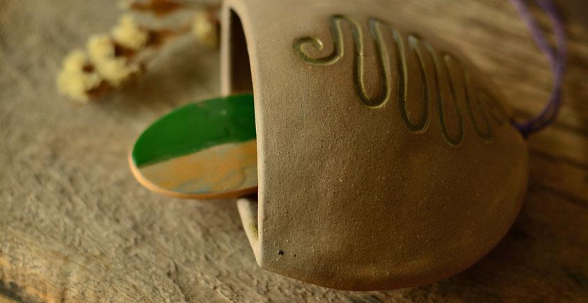 Ochre ~ Ceramic Bell  {a}