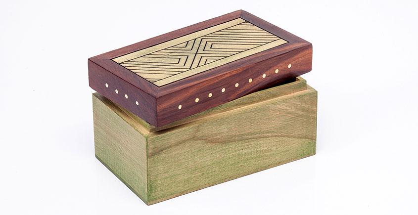 Organic Connect ❉ Tea box Wave Olive ❉ 12