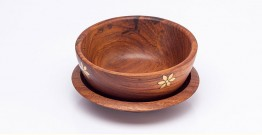 Organic Connect ❉ Nut Bowl & Platter ❉ 3 { Set of 2 }