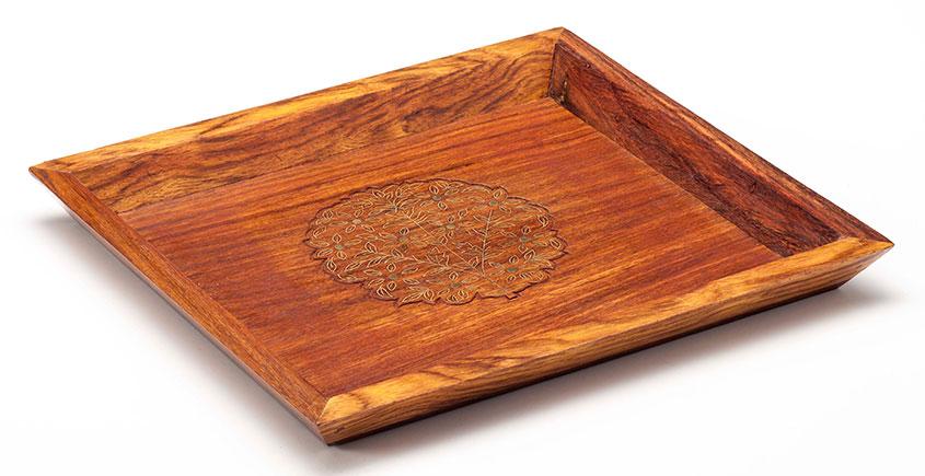 Organic Connect ❉ Mehndi Brass Platter ❉ 4