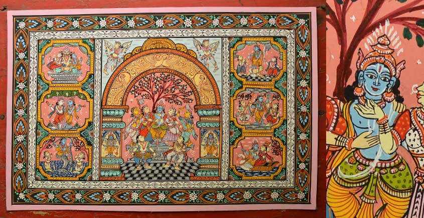 Buy Krishna Leela Pattachitra Painting ~ Orissa