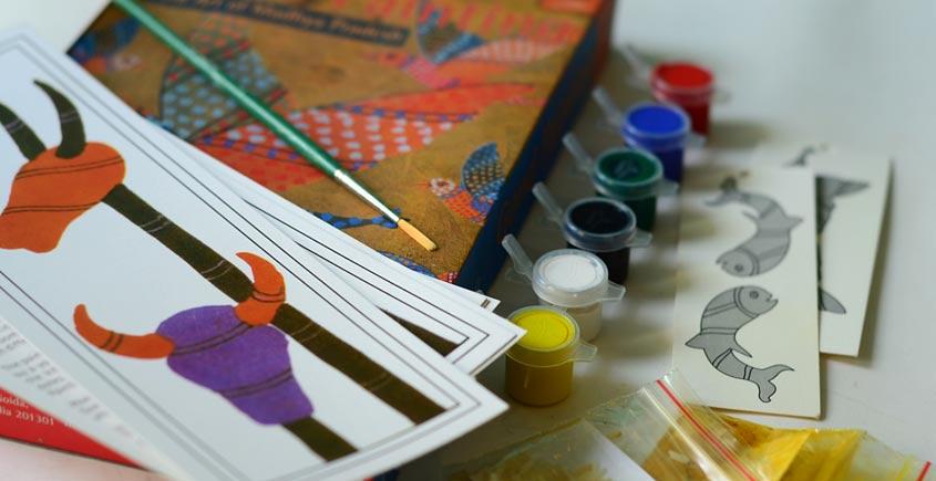 Potli ~ D.I.Y Kit  (Gond painting)