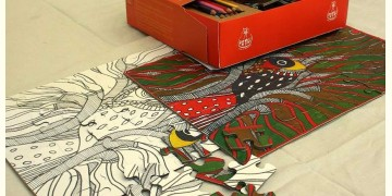 Potli ~  Jigsaw Puzzle (Madhubani art)