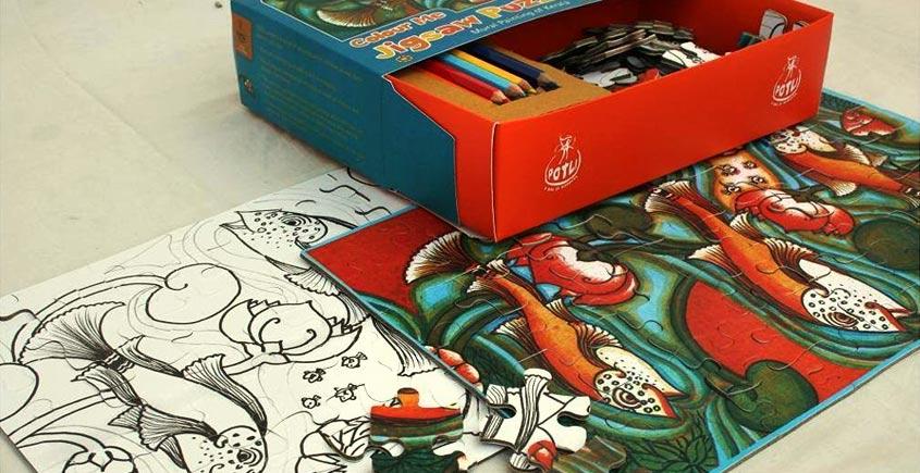 Potli ~  Jigsaw puzzle (Kerala murals)