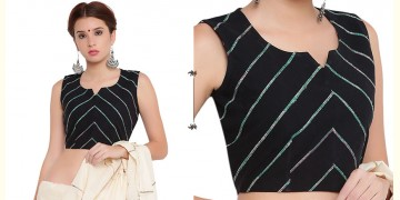 खेस ✥ Black khesh sleeveless blouse ✥ 2