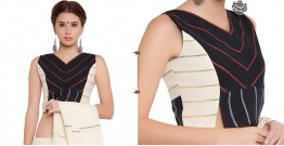 खेस ✥ Black and white panel sleeveless blouse ✥ 5