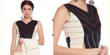 खेस ✥ Black and white panel sleeveless blouse ✥ 5