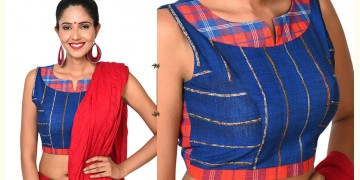 खेस ✥ Royal Blue Patchwork blouse ✥ 12