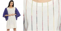खेस ✥ White khesh bandhani sleeves ✥ d