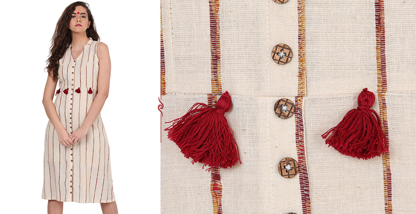 खेस ✥ Khesh dress with tassels ✥ e