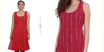 खेस ✥ Red khesh short tunic ✥ k