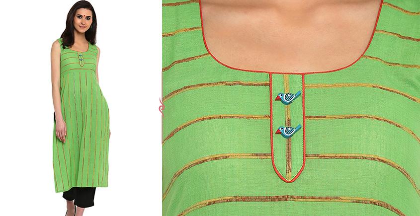 खेस ✥ Green khesh tunic ✥ M