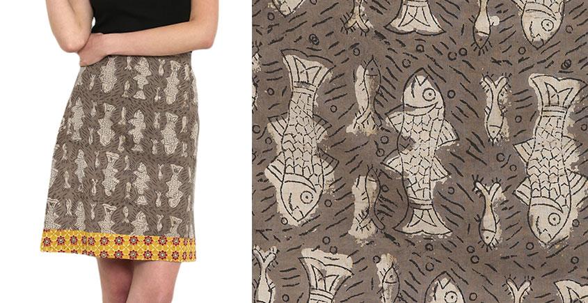 Ireene ✥ Block Printed . Skirt ✥ 34