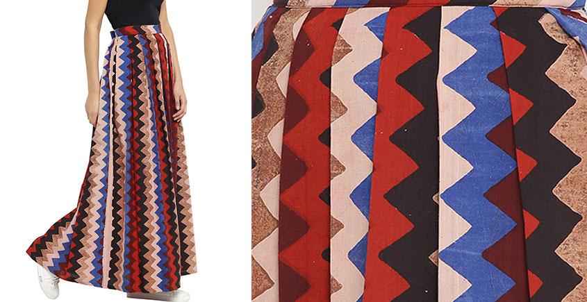Ireene ✥ Block Printed . Skirt ✥ 35