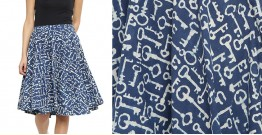 Ireene ✥ Block Printed . Skirt ✥ 36