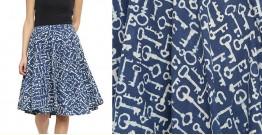 Ireene ✥ Block Printed . Skirt ✥ 36