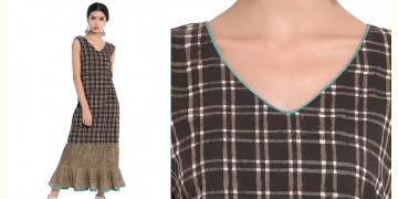 Ireene ✥ Block Printed . Dress with frills ✥ 6