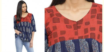 Ireene ✥ Block Printed . Top ✥ 21