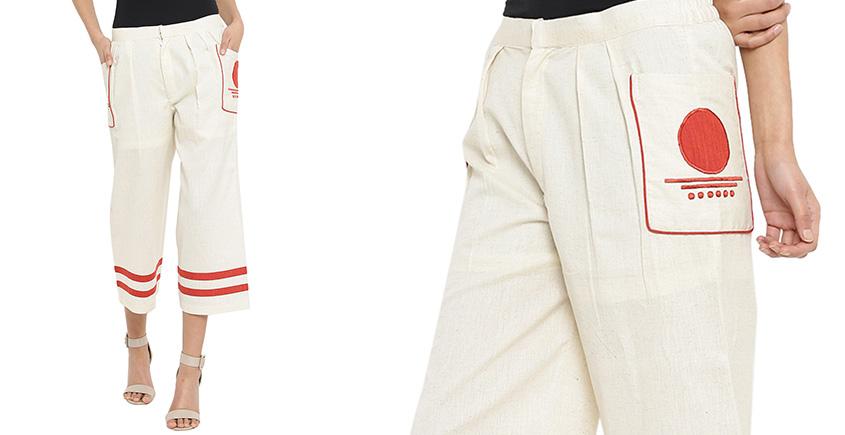 बिंदी ⚫ Culottes with bindi patch pocket ⚫ 8