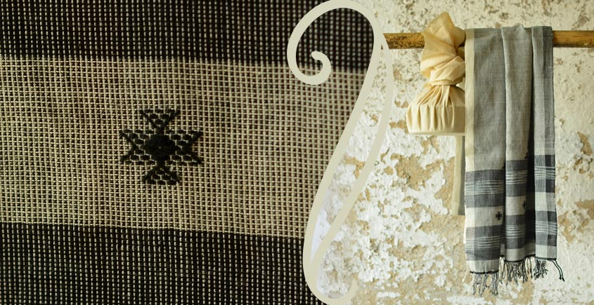 Treasures of travel ~ Handwoven Cotton stole { 11 }