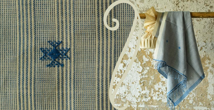Treasures of travel ~ Handwoven Cotton stole { 12 }