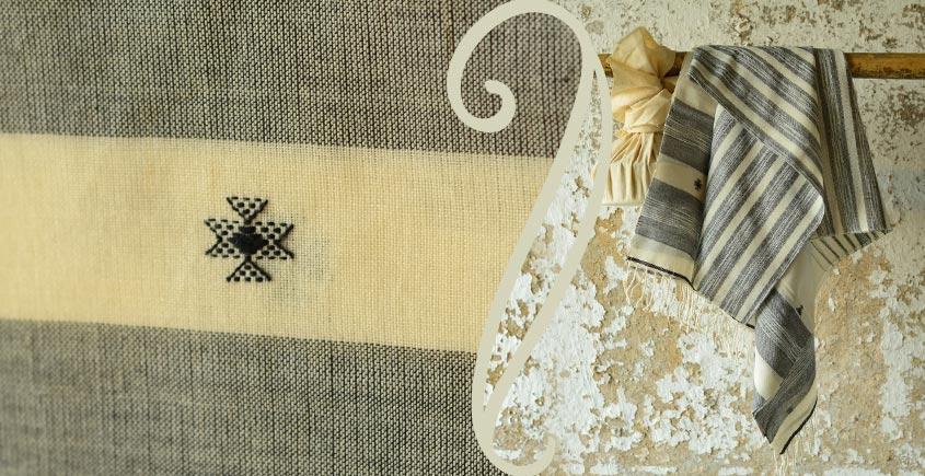 Treasures of travel ~ Handwoven Cotton stole { 2 }