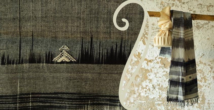 Treasures of travel ~ Handwoven Cotton stole { 8 }