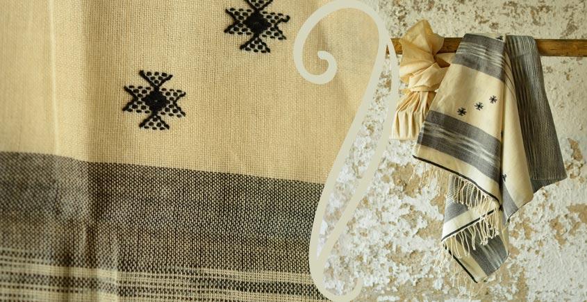 Treasures of travel ~ Handwoven Cotton stole { 9 }