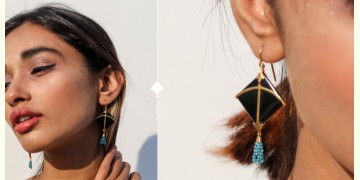 Flying Kites ♦ Onyx Stone . Kite Earrings ♦ 8