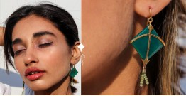 Flying Kites ♦ Onyx Stone . Kite Earrings ♦ 9