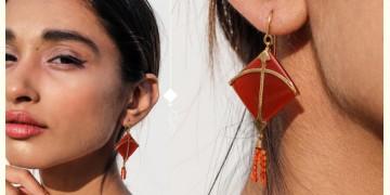 Flying Kites ♦ Onyx Stone . Kite Earrings ♦ 10