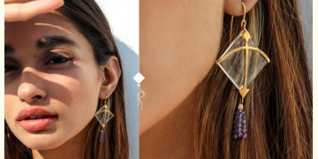 Flying Kites ♦ Natural Crystal . Kite Earrings ♦ 11