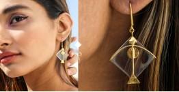 Flying Kites ♦ Natural Crystal . Kite Earrings ♦ 12