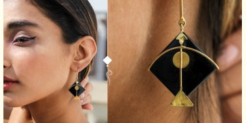 Flying Kites ♦ Onyx Stone . Kite Earrings ♦ 13
