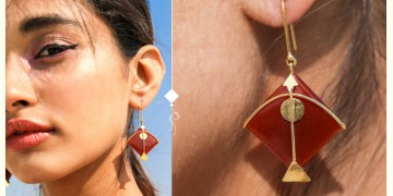 Flying Kites ♦ Onyx Stone . Kite Earrings ♦ 14
