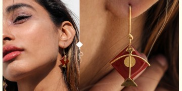 Flying Kites ♦ Onyx Stone . Kite Earrings ♦ 16