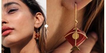 Flying Kites ♦ Onyx Stone . Kite Earrings ♦ 16
