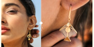 Flying Kites ♦ Natural Crystal . Kite Earrings ♦ 18